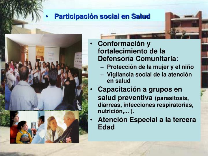 Participación social en Salud