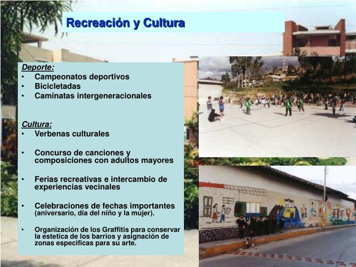 Recreación y Cultura