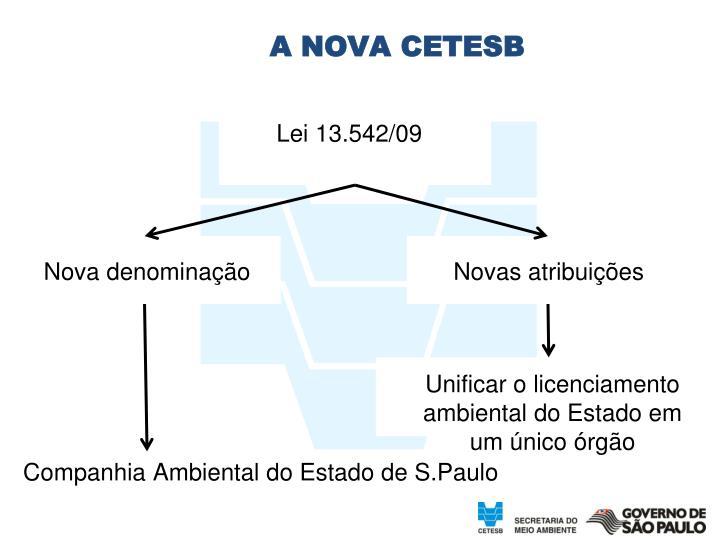 A NOVA CETESB