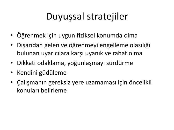 Duyusal stratejiler