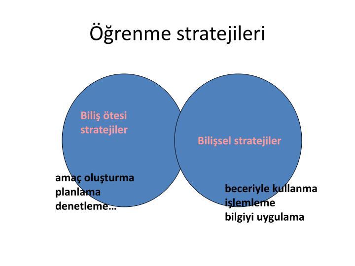 renme stratejileri