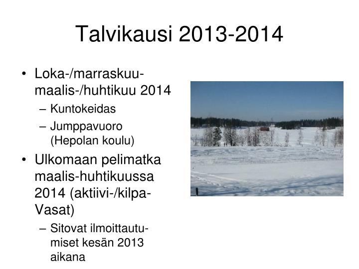 Talvikausi 2013-2014