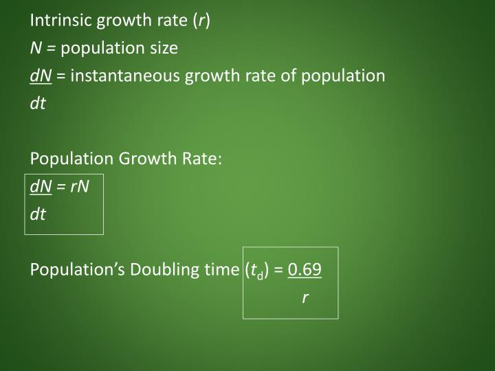Intrinsic growth rate (