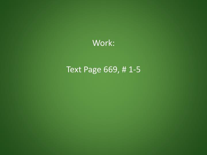 Work: