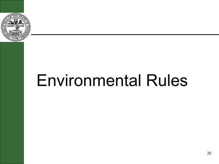 Environmental Rules