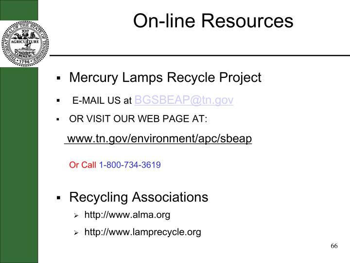 On-line Resources