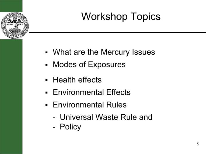 What are the Mercury Issues