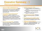 executive summary 1 historical perspective
