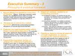 executive summary 3 philosophy analytical framework