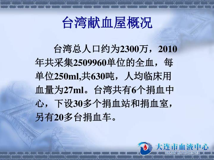 台湾献血屋概况