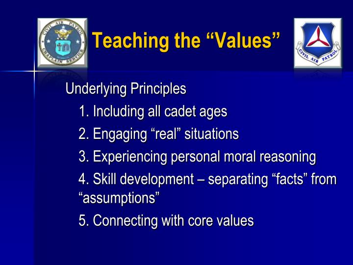 "Teaching the ""Values"""