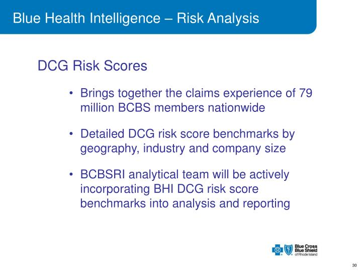 Blue Health Intelligence – Risk Analysis