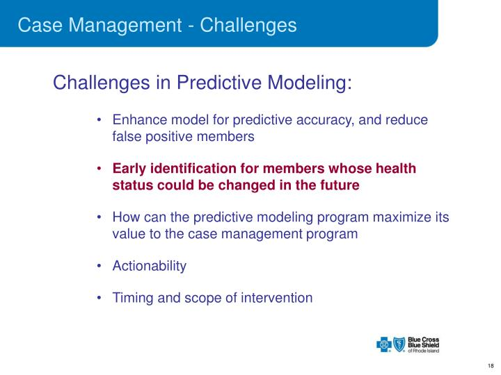 Case Management - Challenges