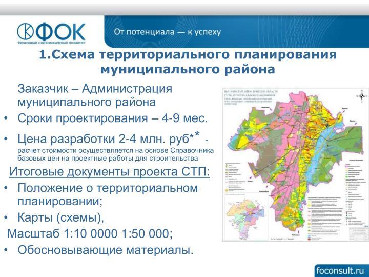 Заказчик – Администрация муниципального района