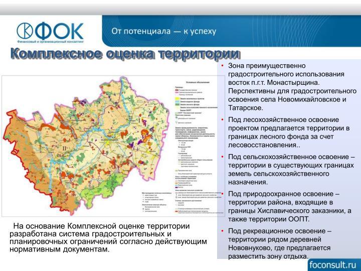Комплексное оценка территории
