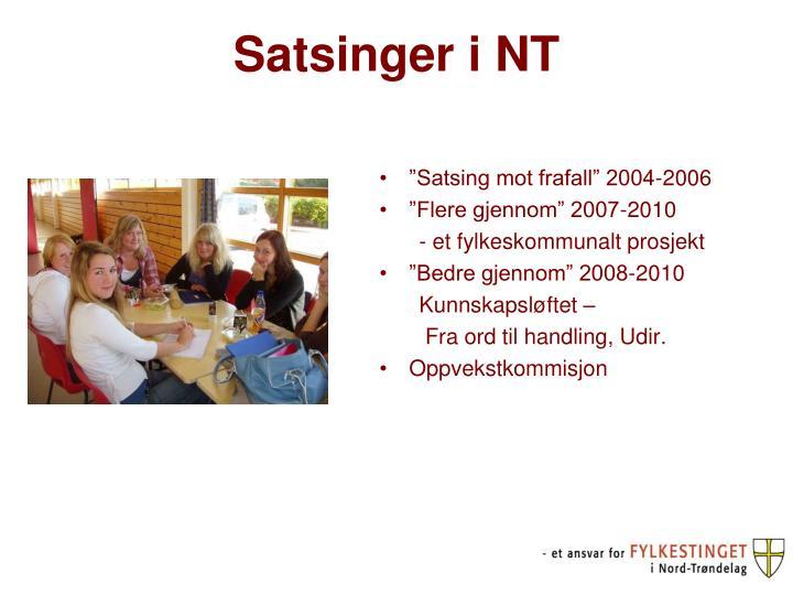 Satsinger i NT