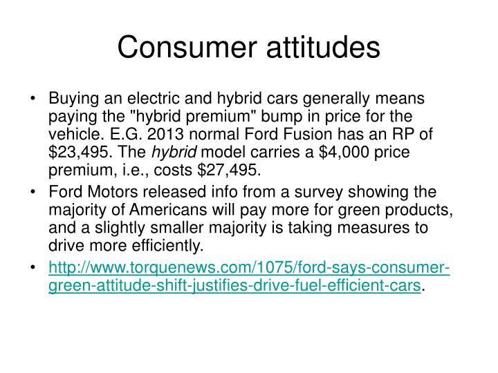 Consumer attitudes