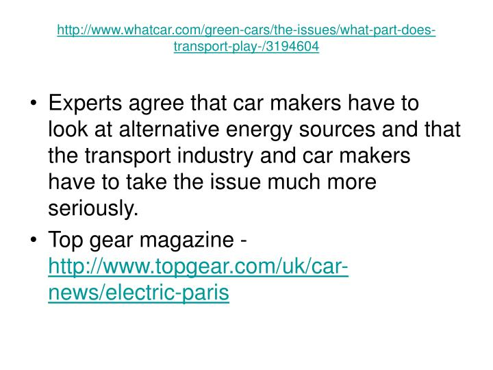 http://www.whatcar.com/green-cars/the-issues/what-part-does-transport-play-/3194604