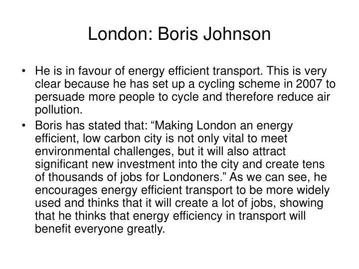 London: Boris Johnson