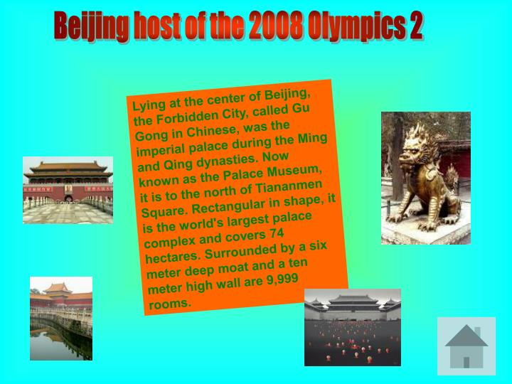Beijing host of the 2008 Olympics 2