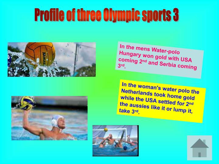Profile of three Olympic sports 3