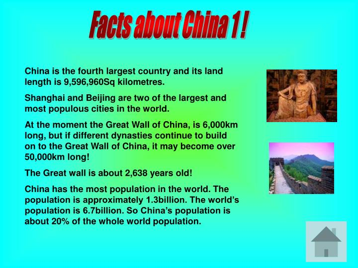 Facts about China 1 !