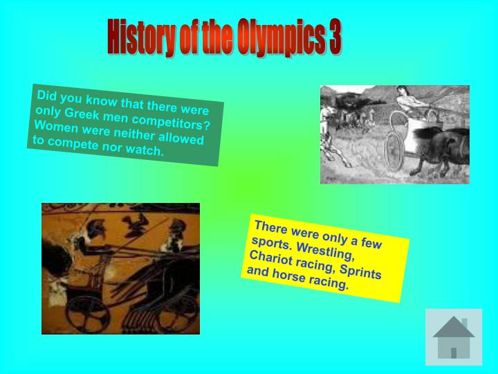 History of the Olympics 3