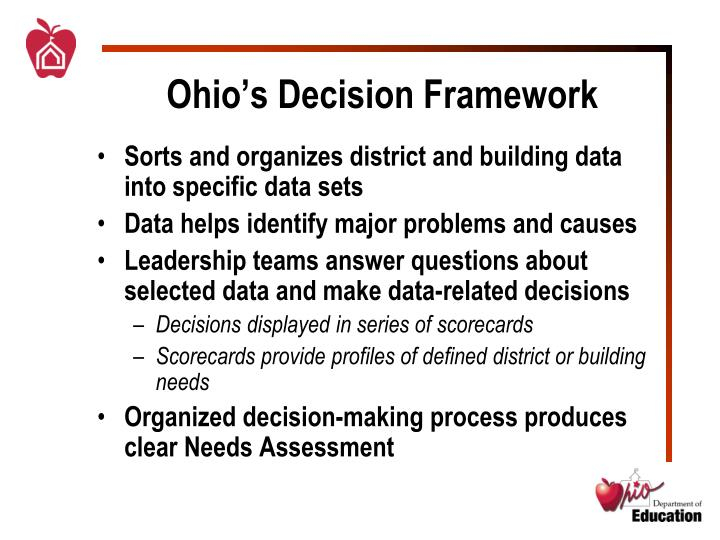 Ohio's Decision Framework