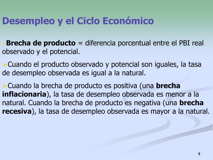 Desempleo y el Ciclo Económico
