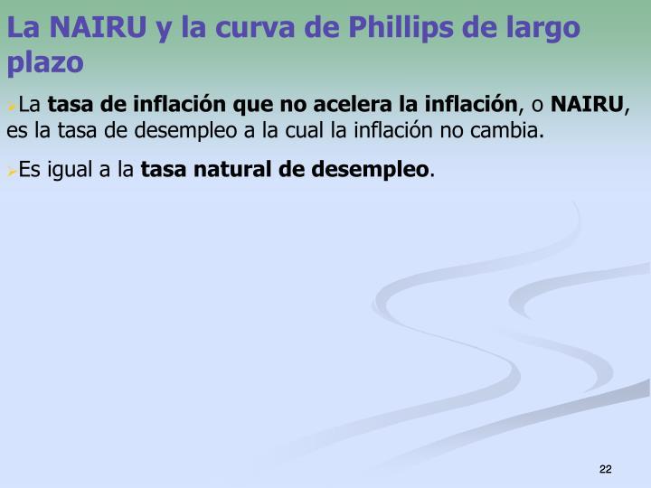 La NAIRU y la curva de Phillips de largo plazo