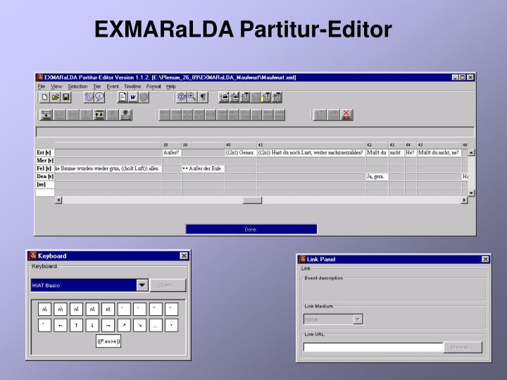 EXMARaLDA Partitur-Editor
