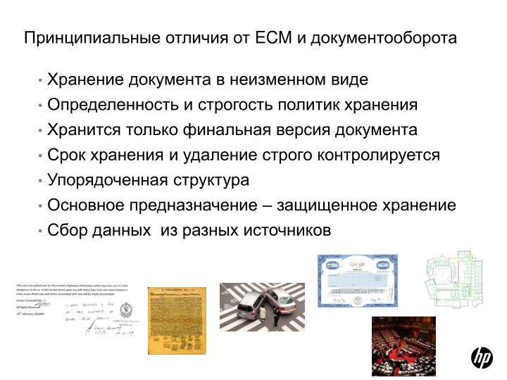Хранение документа в неизменном виде