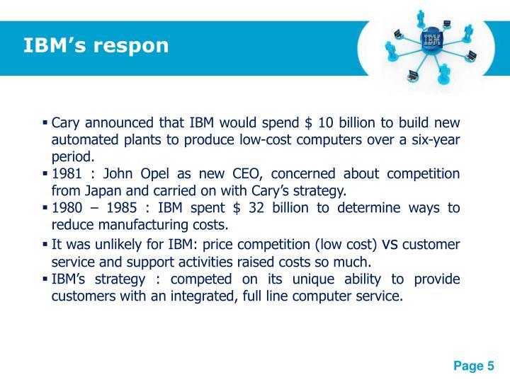 IBM's respon