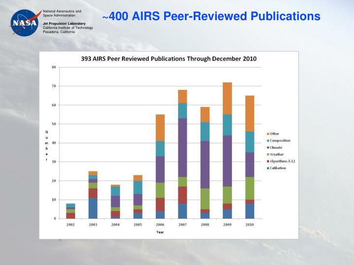 ~400 AIRS Peer-Reviewed Publications