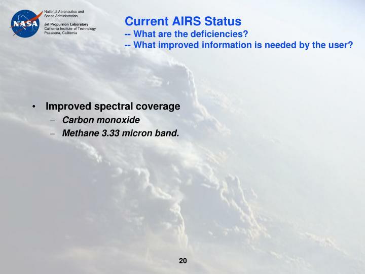 Current AIRS Status
