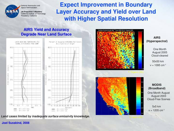 Expect Improvement in Boundary Layer Accuracy and Yield over Land with Higher Spatial Resolution