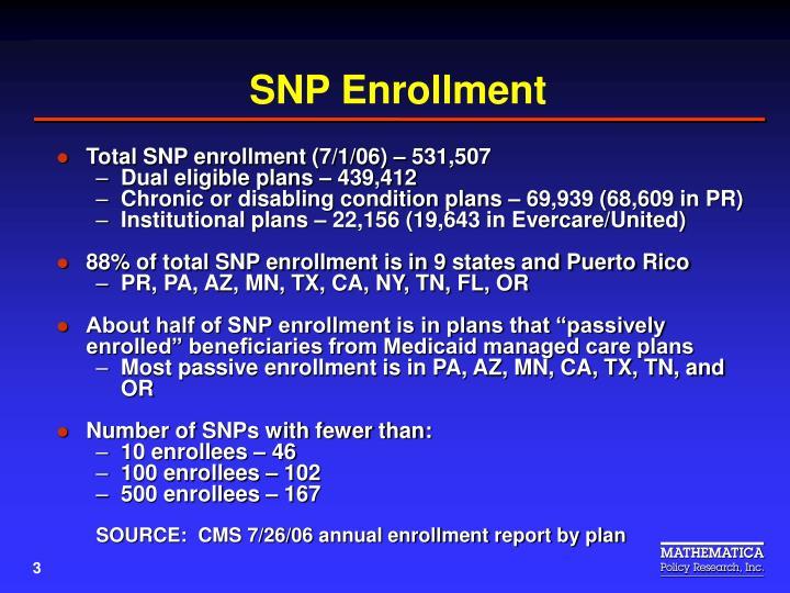SNP Enrollment