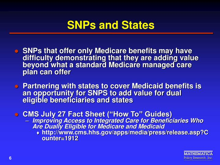 SNPs and States