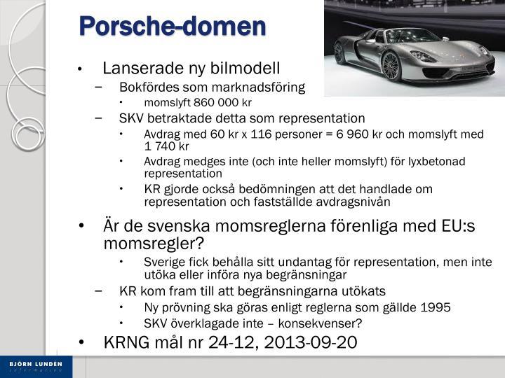 Porsche-domen
