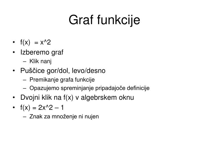 Graf funkcije