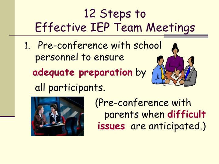 12 steps to effective iep team meetings
