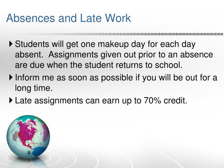 Absences and Late Work