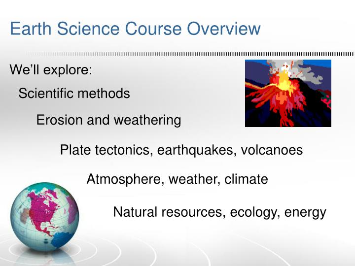 Earth Science Course Overview