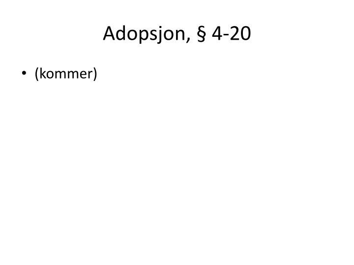 Adopsjon, § 4-20