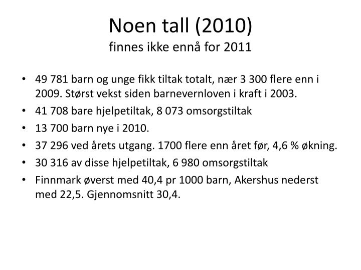 Noen tall (2010)