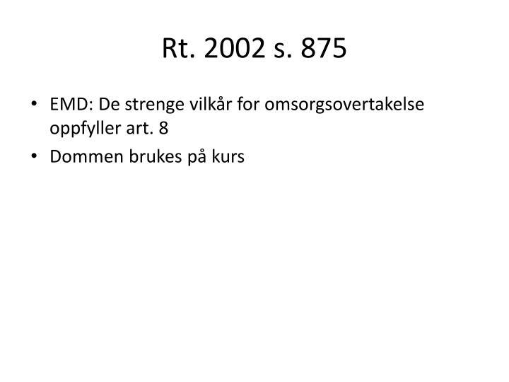 Rt. 2002 s. 875