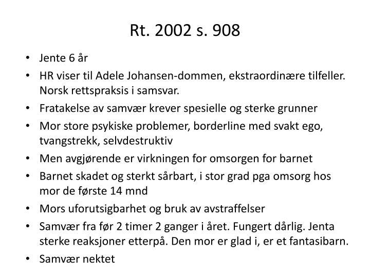 Rt. 2002 s. 908