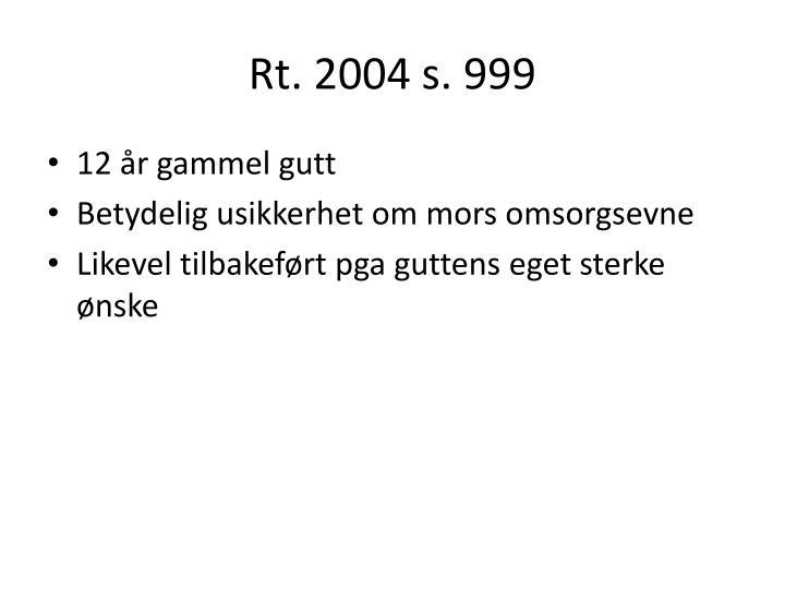Rt. 2004 s. 999