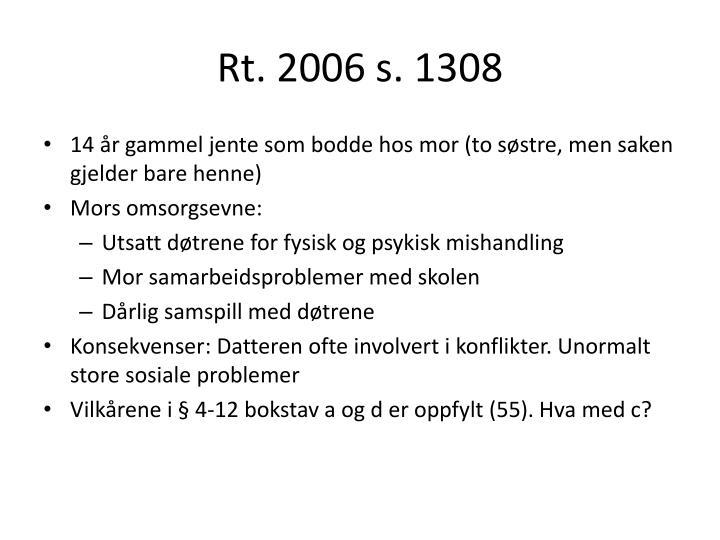 Rt. 2006 s. 1308