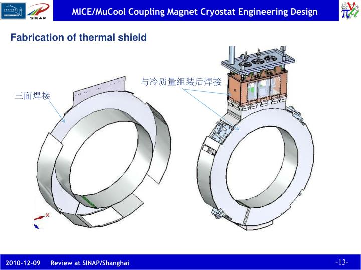 Fabrication of thermal shield